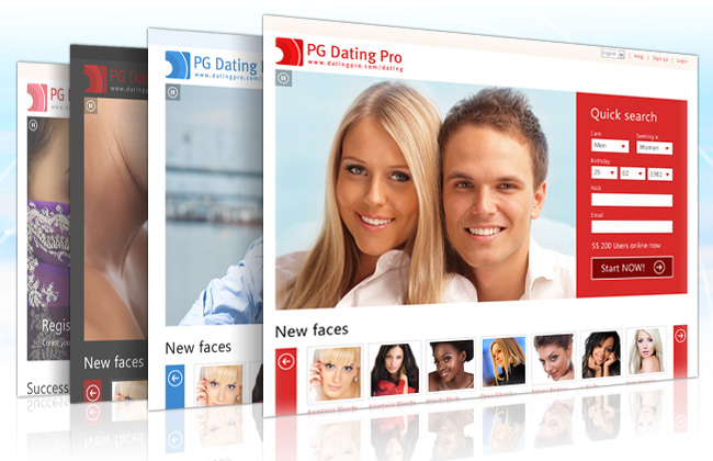 Dating Pro software website templates