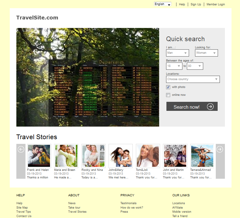 Dating website travel