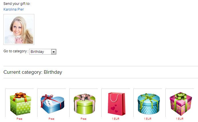 PG SocialBiz software - virtual gifts