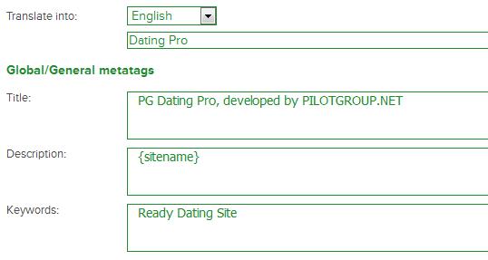 dating site keywords