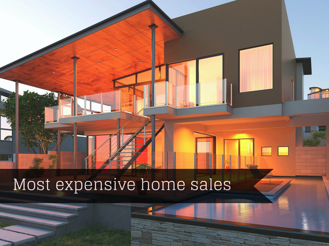 Most expensive home sales