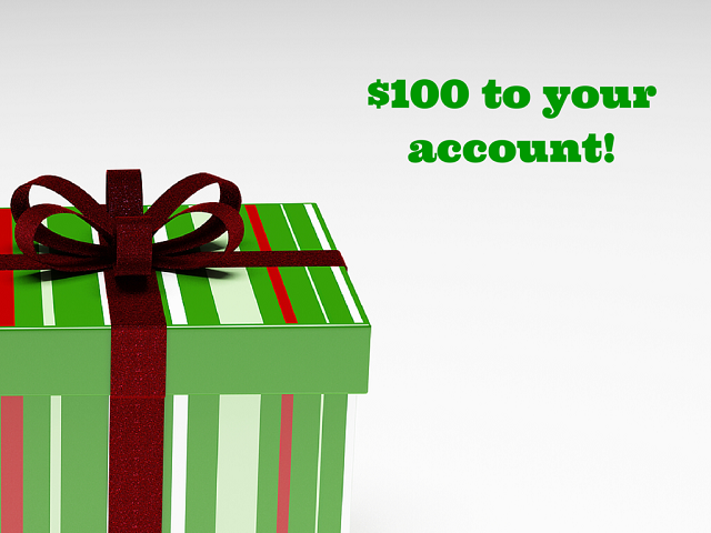 $100 on your account!